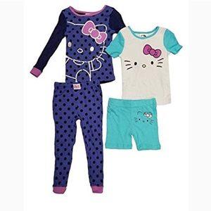 hello kitty 4 piece sleepwear pajama set